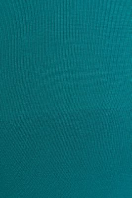 Stretch jersey nursing T-shirt, TEAL GREEN, detail