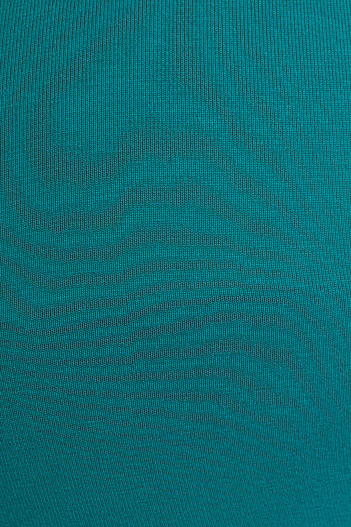 Stretch jersey nursing T-shirt, TEAL GREEN, detail image number 4