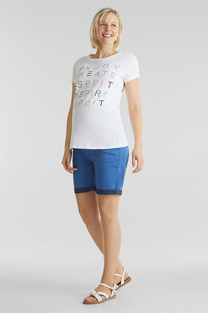 Top with embroidery, 100% cotton, WHITE, detail image number 1