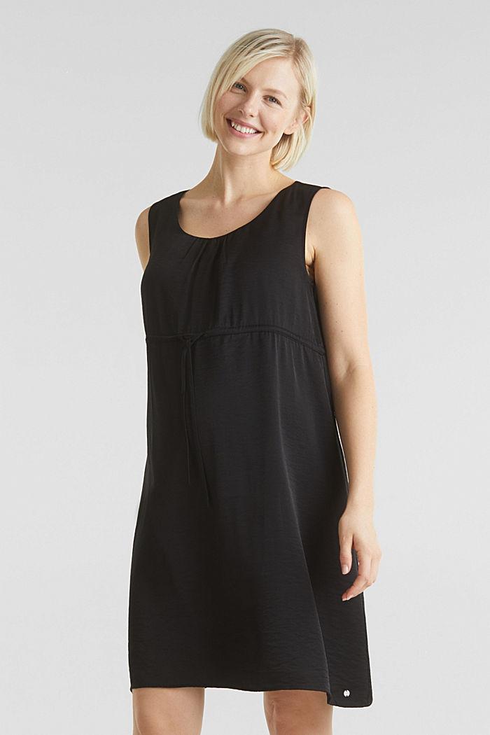 Web-Kleid mit Tunnelzug, BLACK, detail image number 0