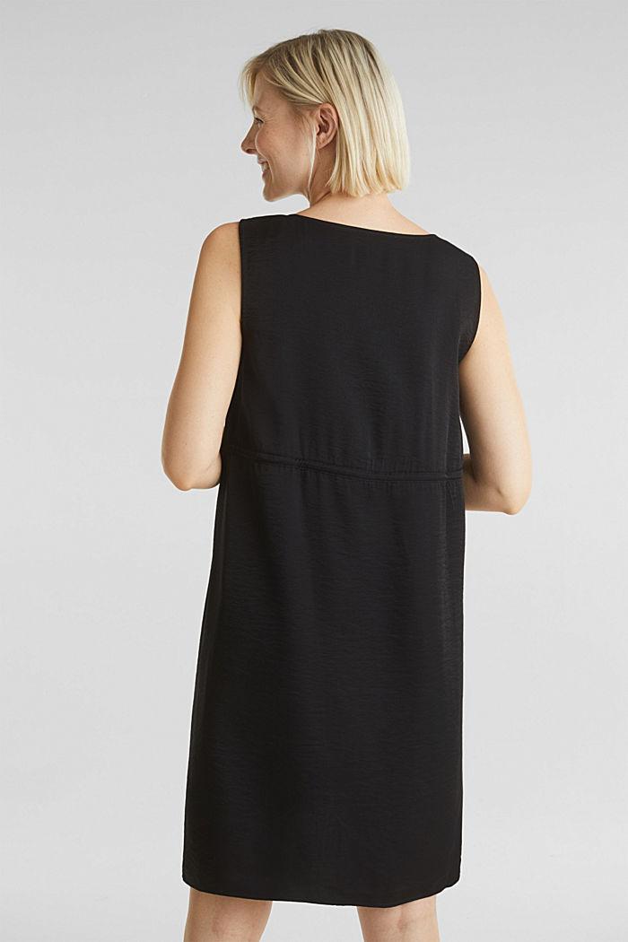 Web-Kleid mit Tunnelzug, BLACK, detail image number 3