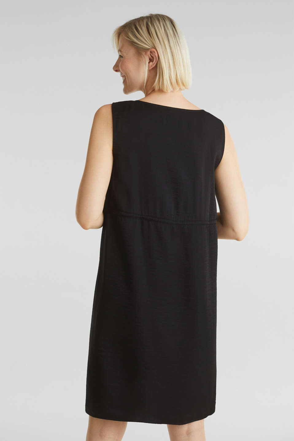 Woven dress with drawstring, LCBLACK, detail image number 3