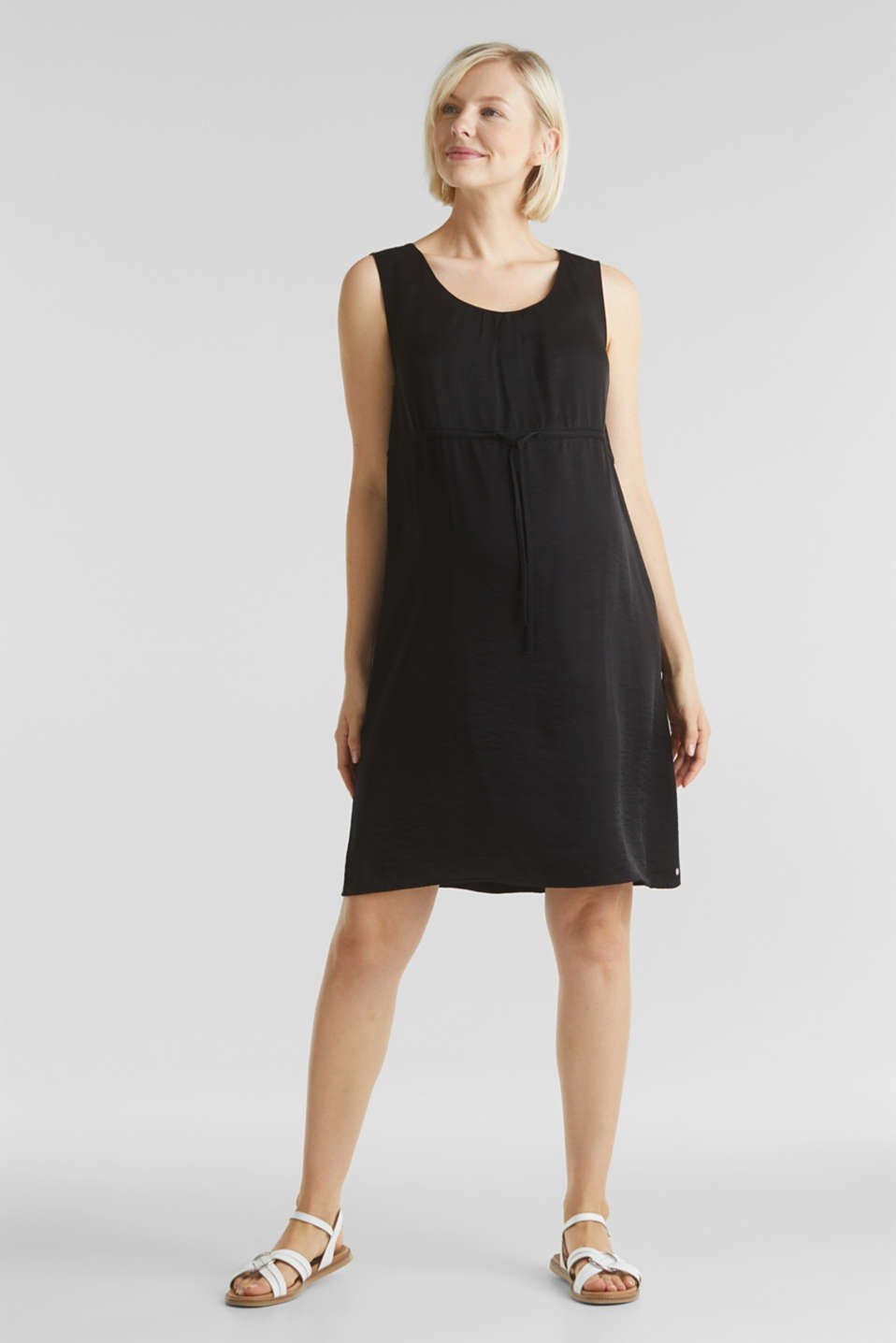 Woven dress with drawstring, LCBLACK, detail image number 1