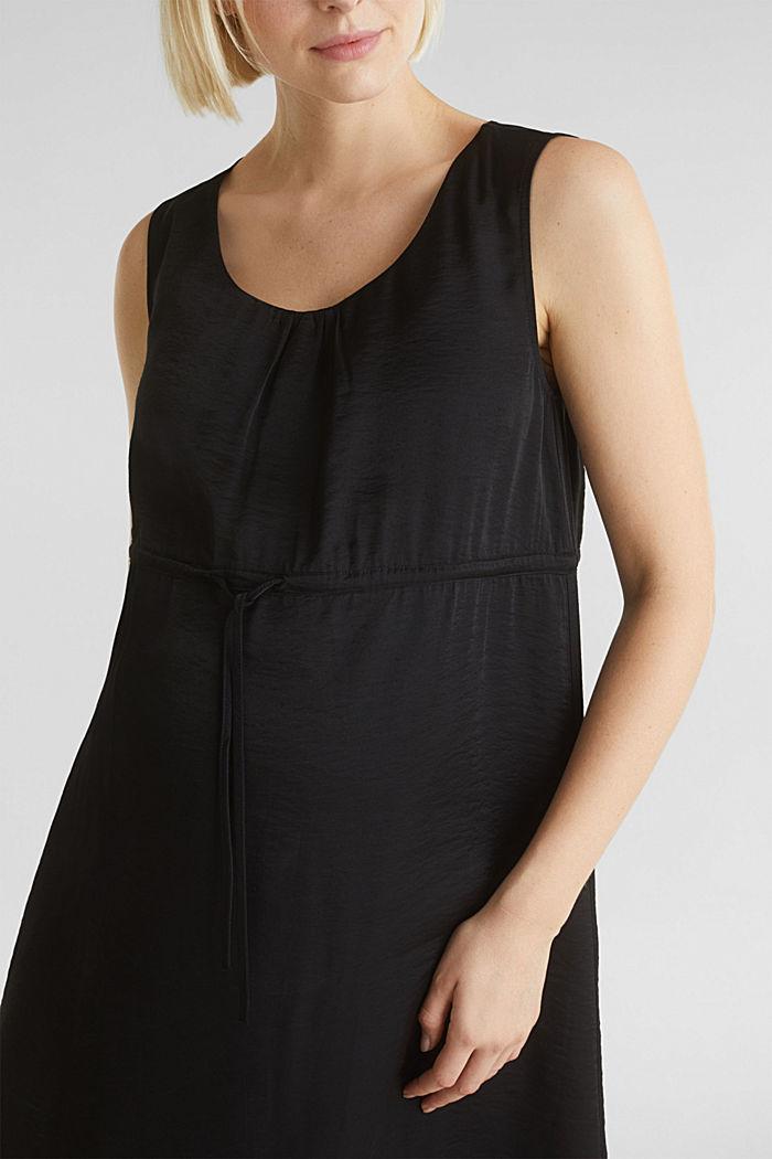 Web-Kleid mit Tunnelzug, BLACK, detail image number 2