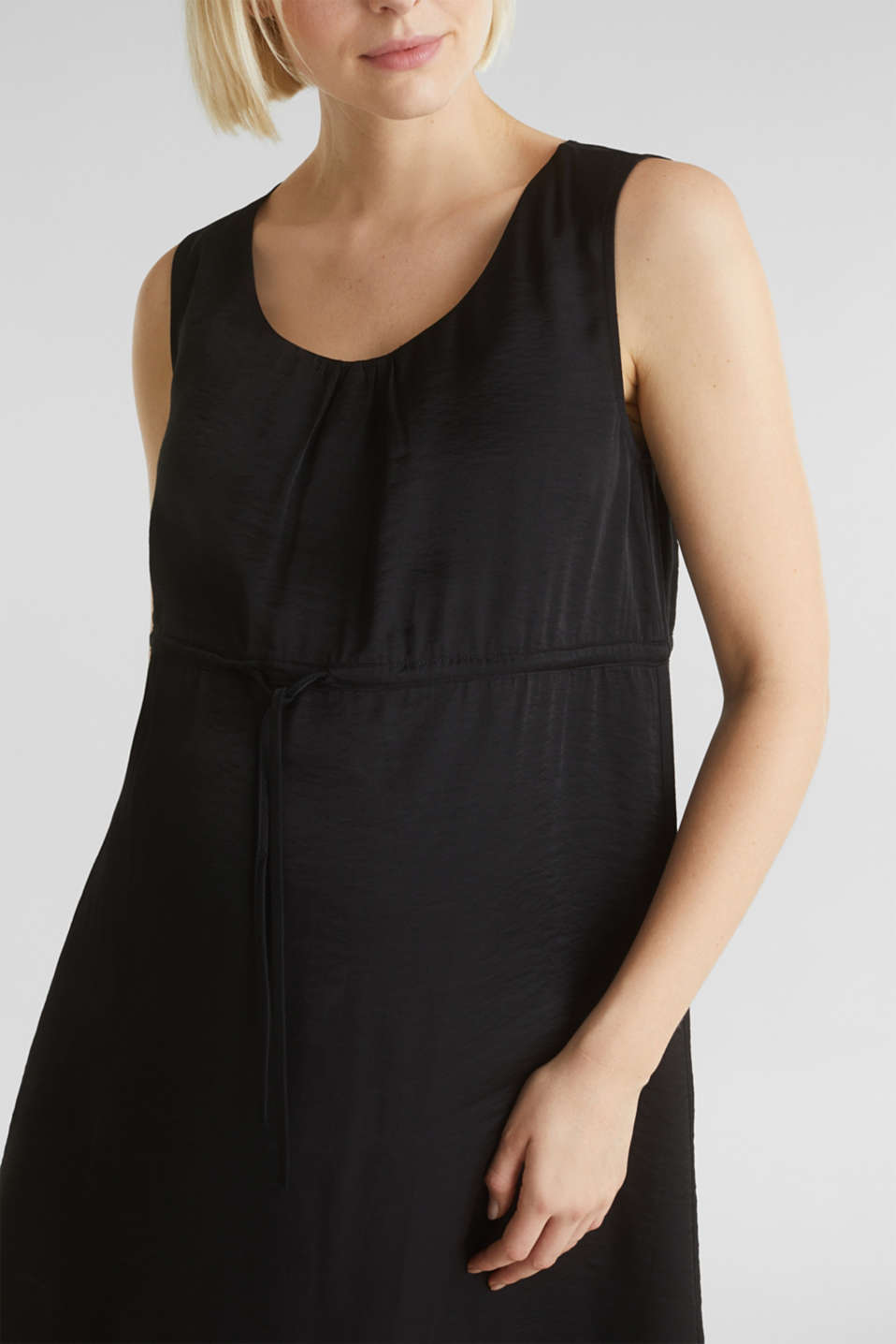 Woven dress with drawstring, LCBLACK, detail image number 2