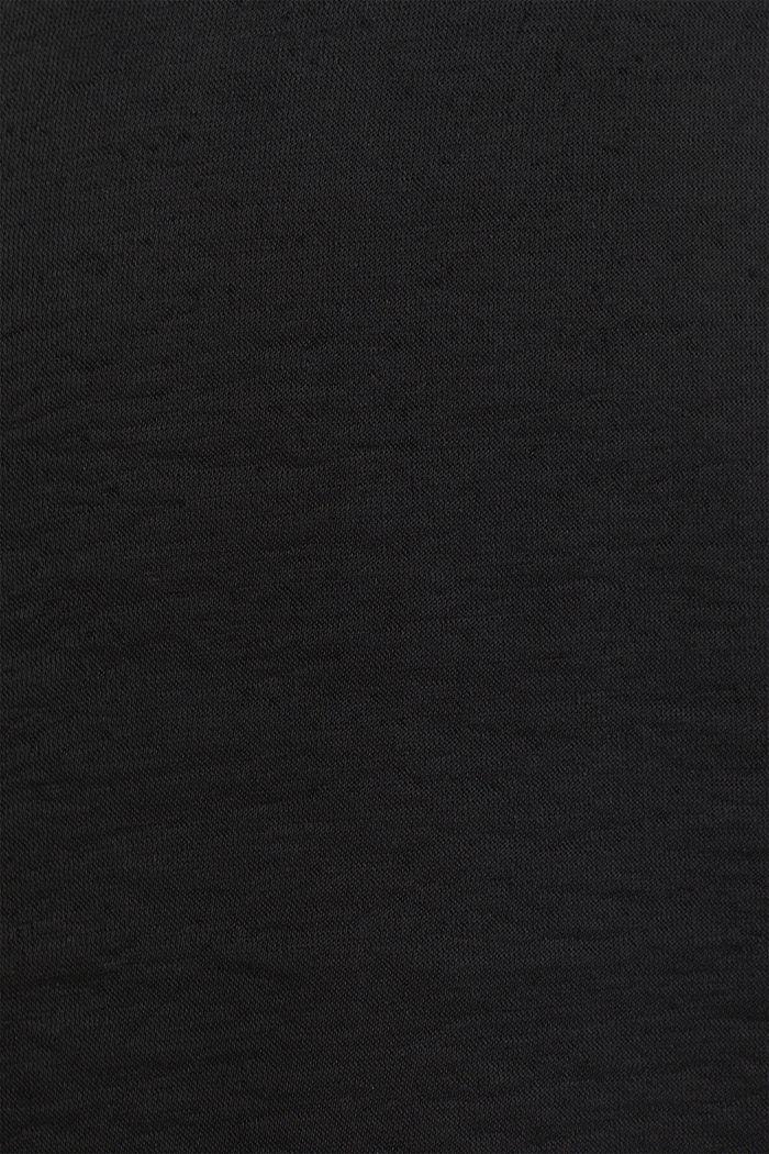 Web-Kleid mit Tunnelzug, BLACK, detail image number 4