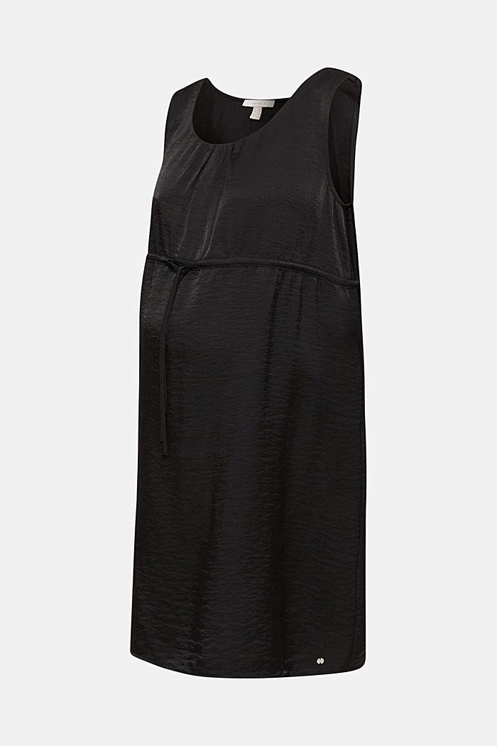Web-Kleid mit Tunnelzug, BLACK, detail image number 5