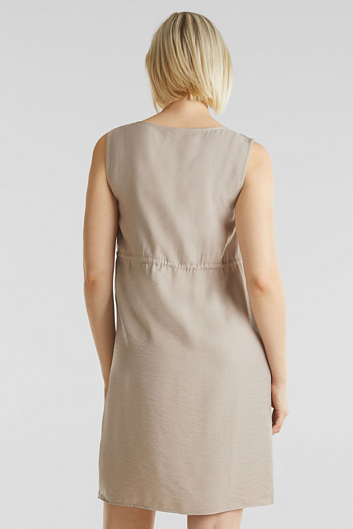 Woven dress with drawstring, BEIGE, detail image number 1