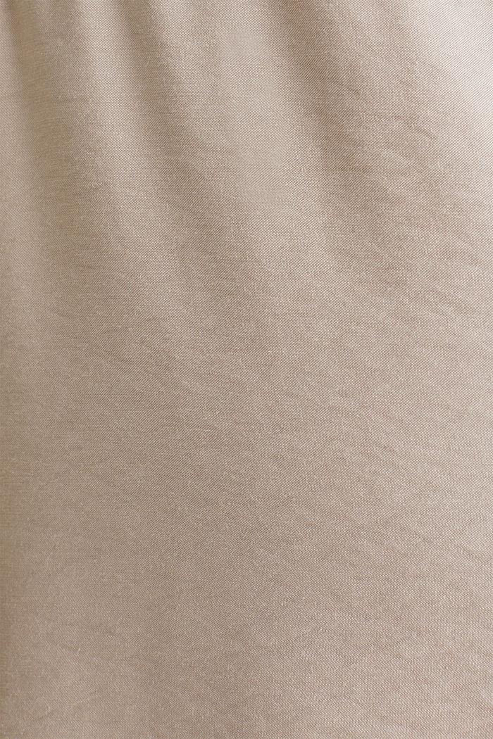 Robe en tissu à cordon coulissant sous tunnel, BEIGE, detail image number 2