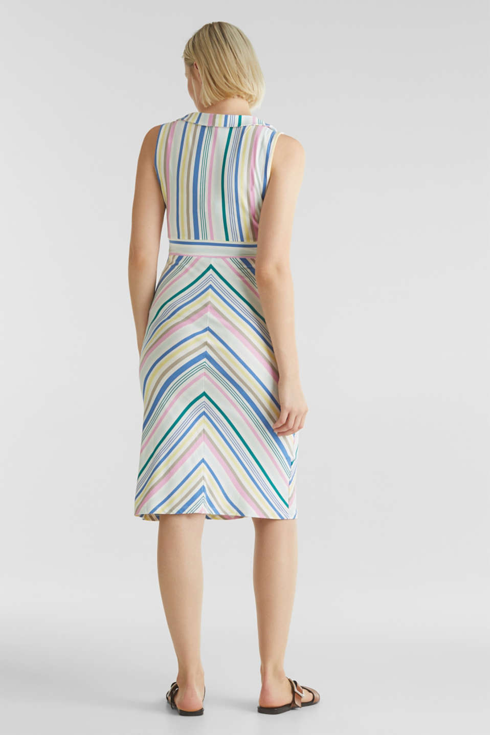 Wrap-over effect, stretch jersey dress, LCWHITE, detail image number 2
