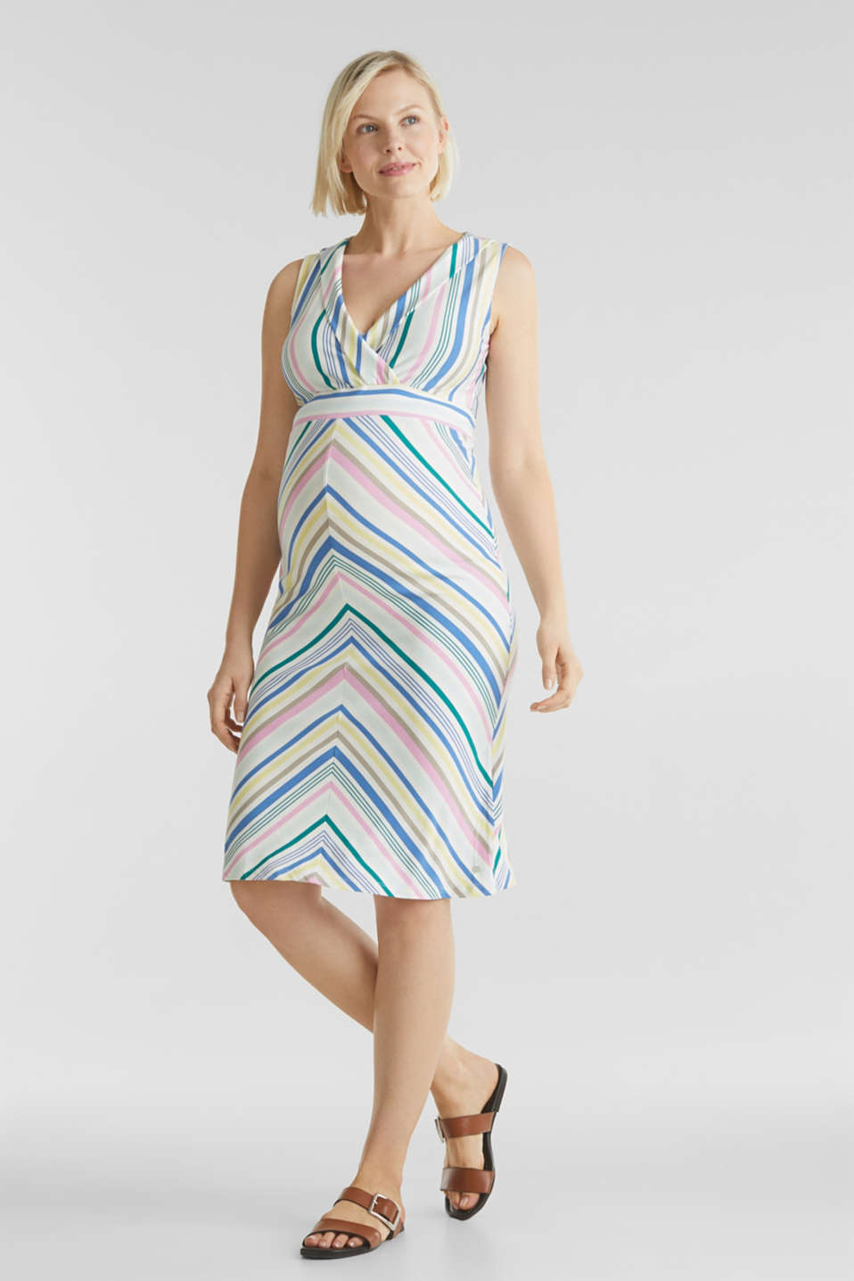 Wrap-over effect, stretch jersey dress, LCWHITE, detail image number 1