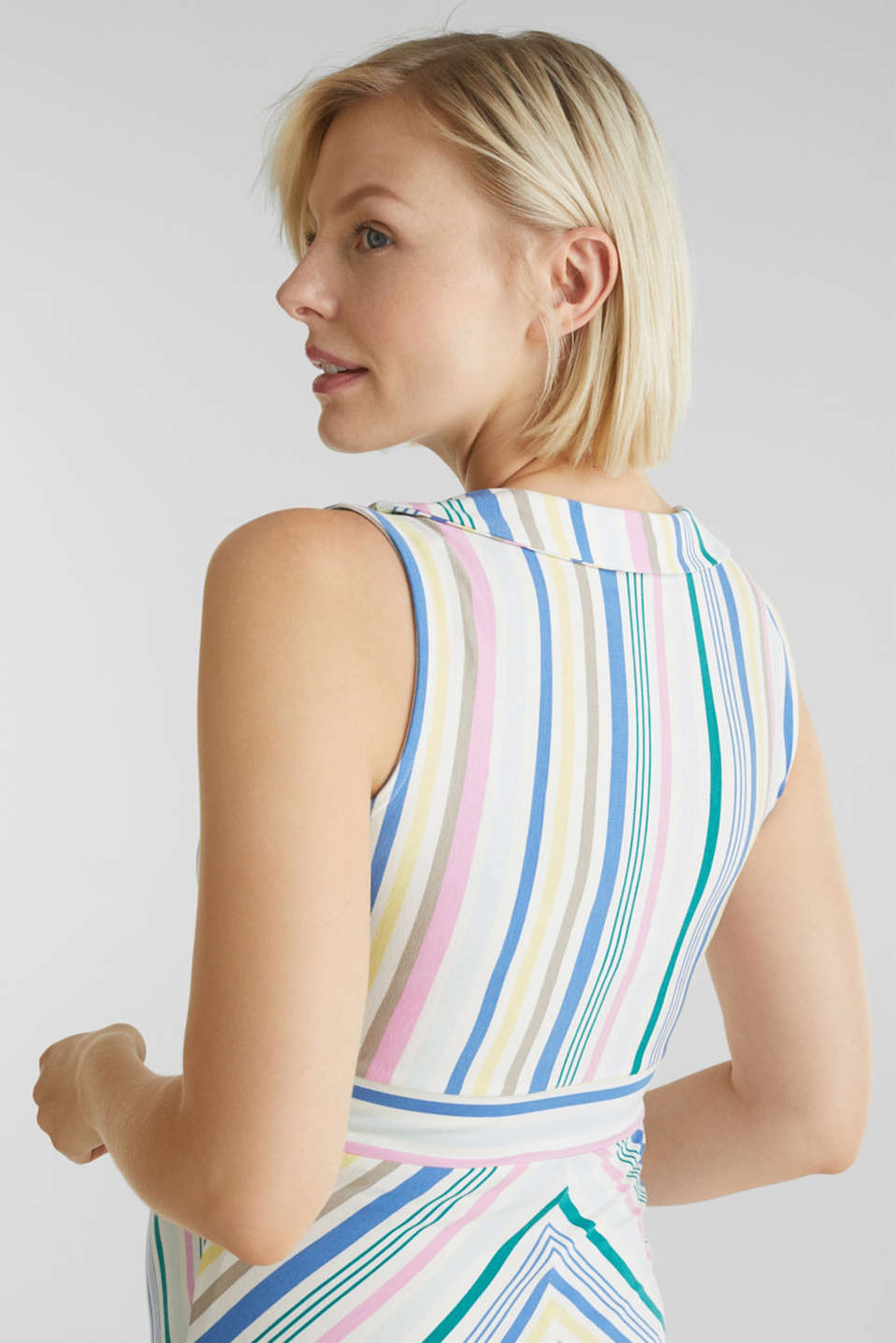 Wrap-over effect, stretch jersey dress, LCWHITE, detail image number 6