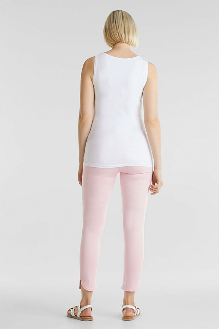 7/8-length stretch trousers with an over-bump waistband, LIGHT PINK, detail image number 3