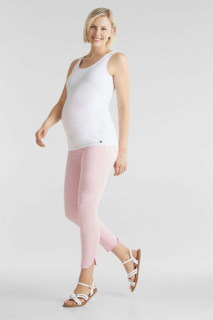 Pantalon 7/8 stretch à ceinture de maintien, LIGHT PINK, detail image number 1