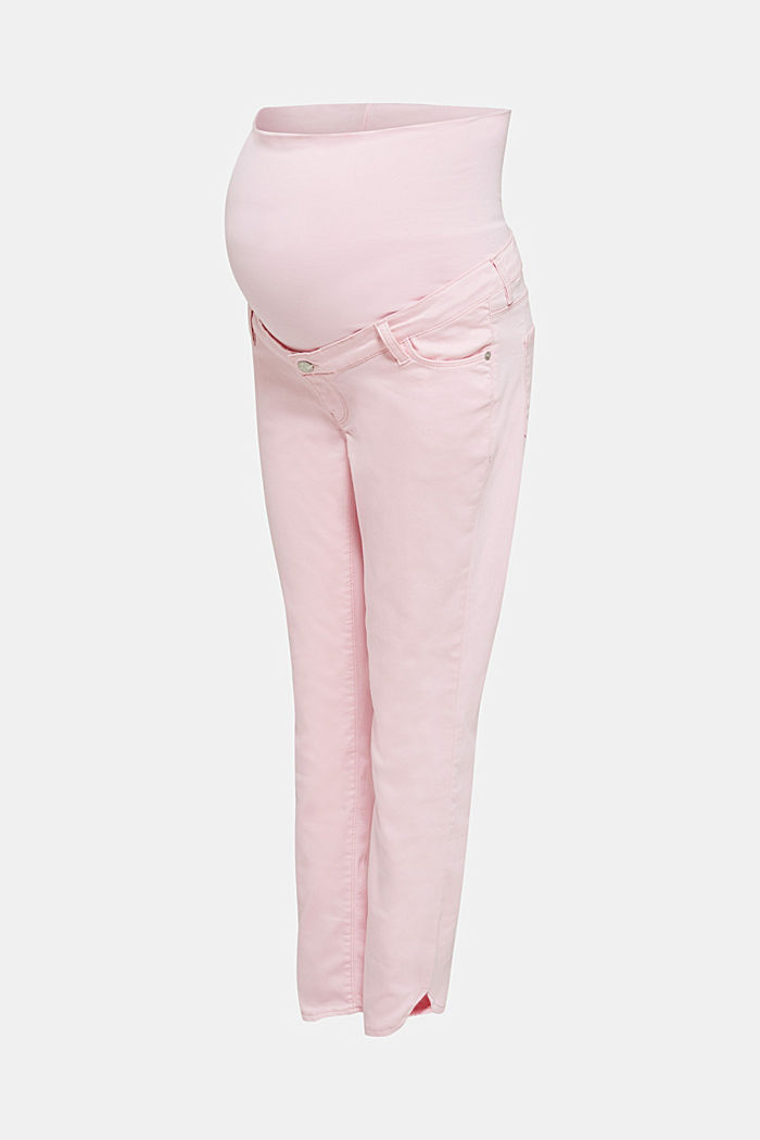 7/8-length stretch trousers with an over-bump waistband, LIGHT PINK, detail image number 8
