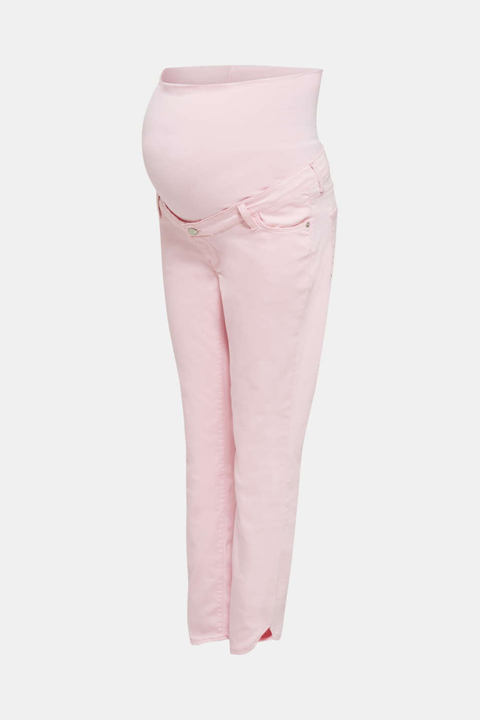 7/8-length stretch trousers with an over-bump waistband, LCLIGHT PINK, detail image number 8