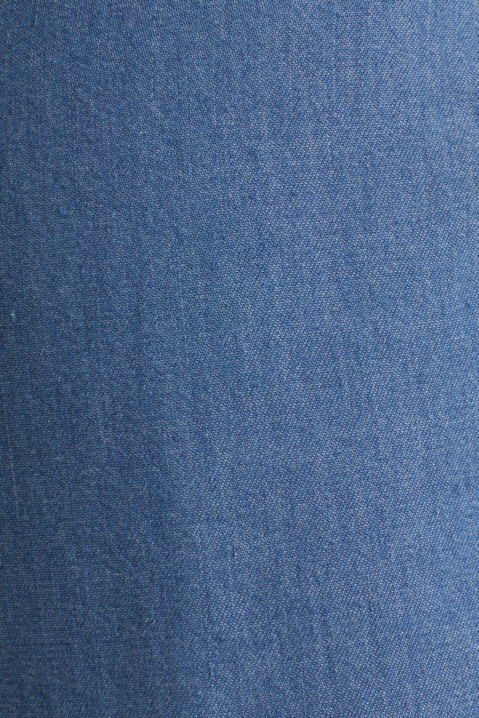 Lyocell culottes with an under-bump waistband, LCMEDIUM WASH, detail image number 4