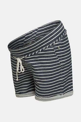 Shorts with an under-bump waistband