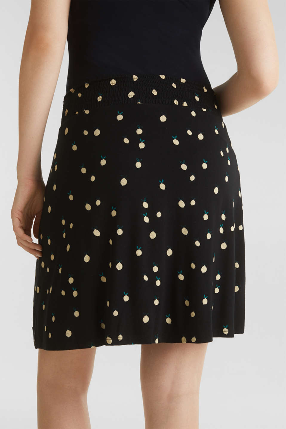 Stretch jersey skirt with a comfortable waistband, LCBLACK, detail image number 5