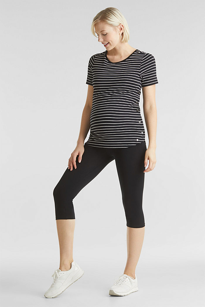 Capri leggings + under-bump waistband, BLACK, detail image number 5