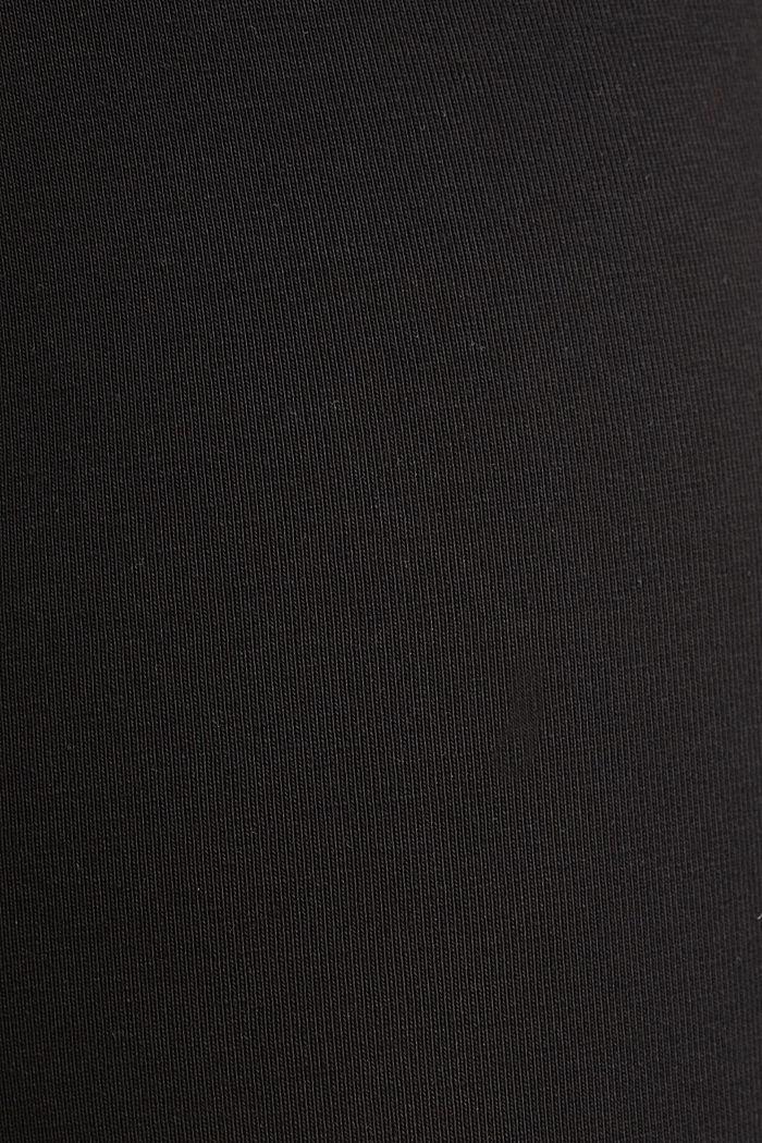 Capri-Leggings mit Unterbauchbund, BLACK, detail image number 4