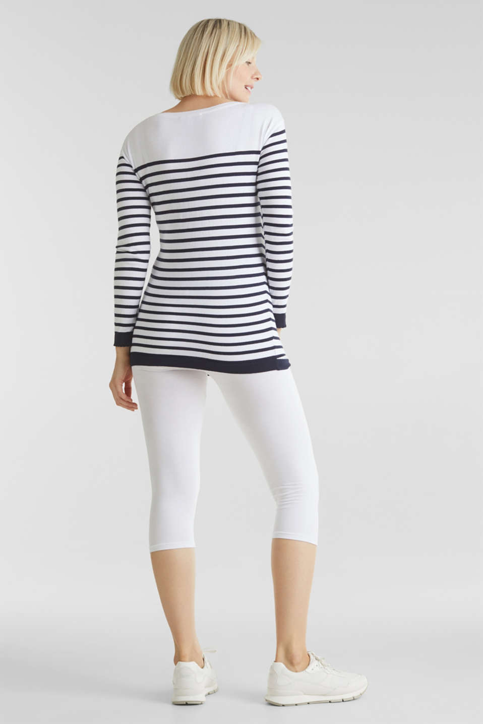 Capri leggings + under-bump waistband, WHITE, detail image number 6