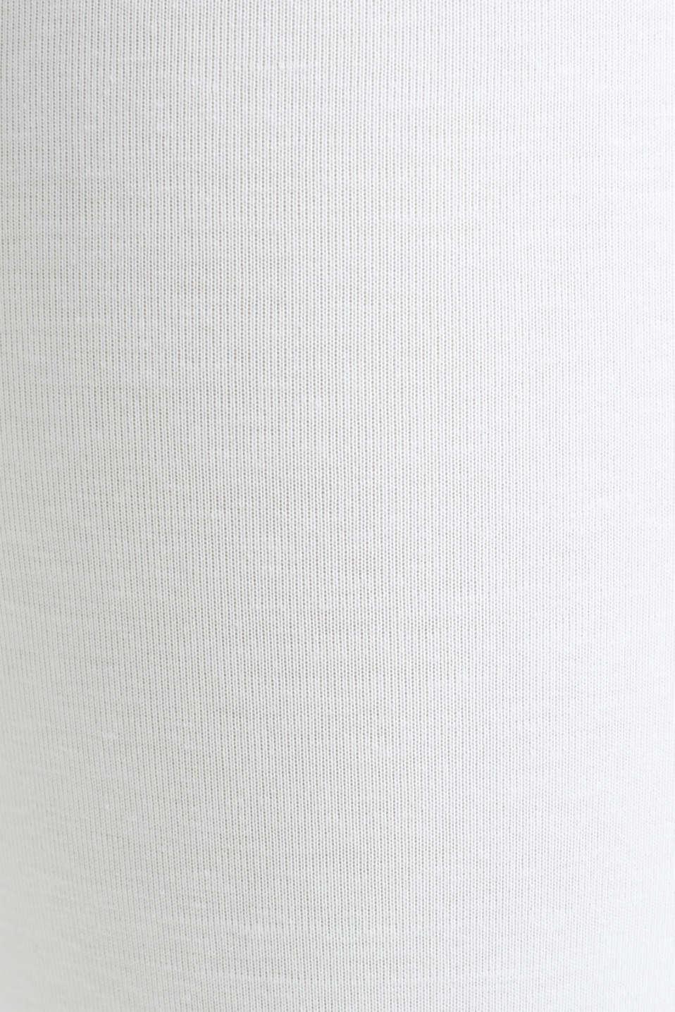 Capri leggings + under-bump waistband, WHITE, detail image number 4