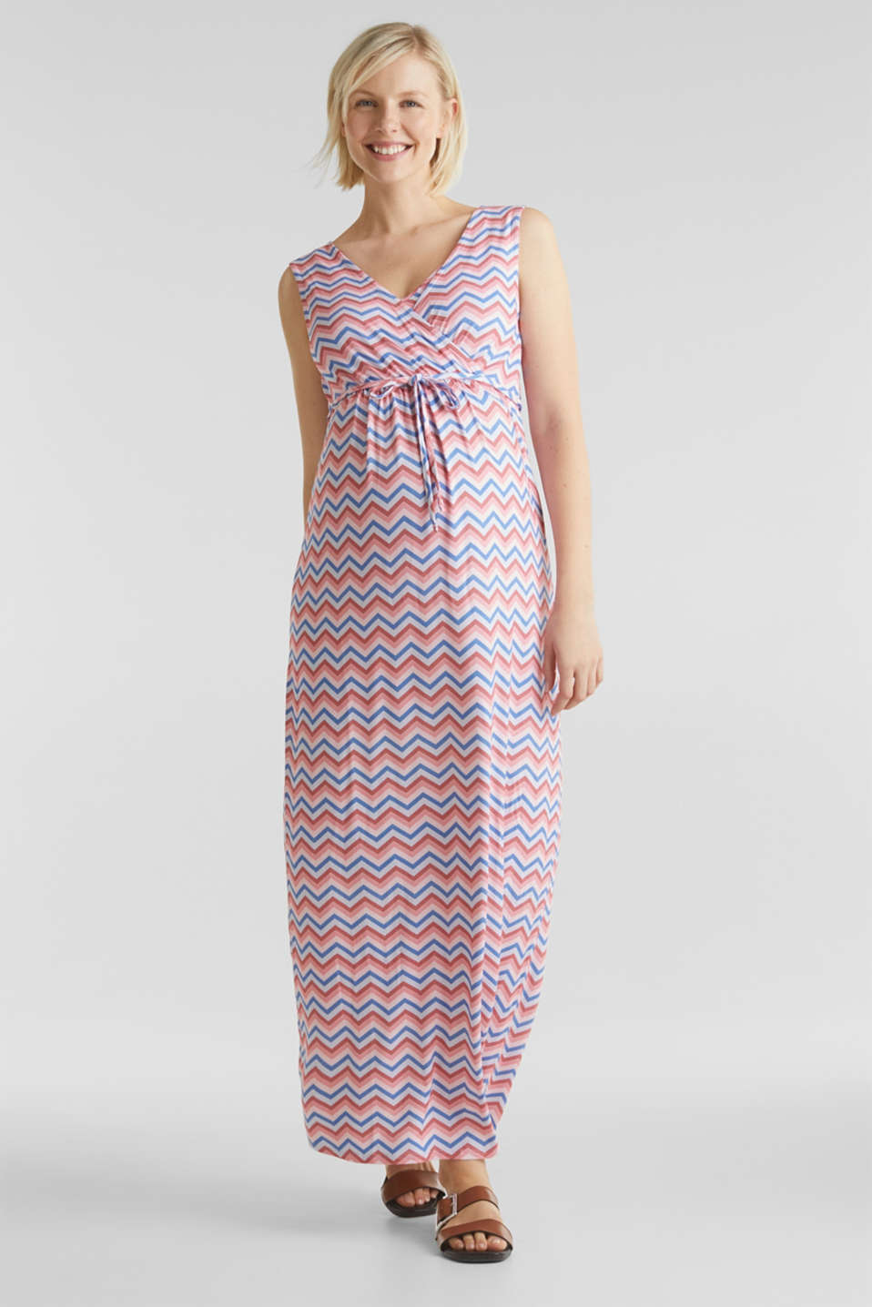 Esprit - Stretch jersey dress with a nursing function