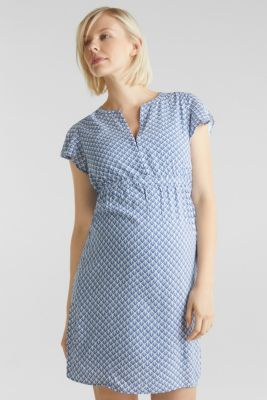 2-in-1 woven nursing dress, LCGREY BLUE, detail