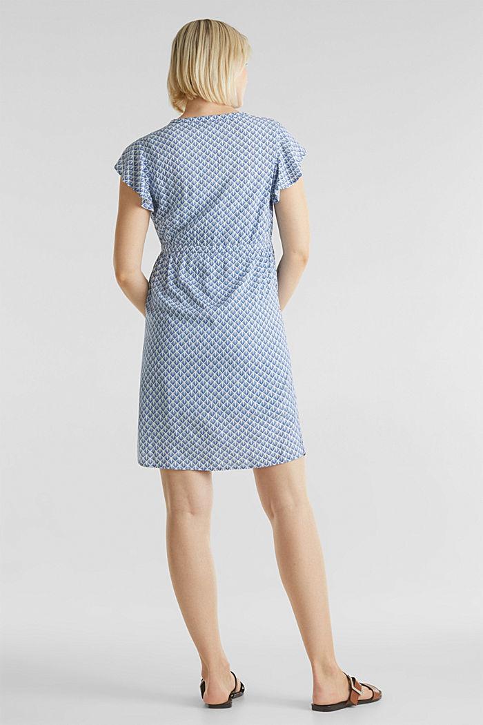2-in-1 woven nursing dress, GREY BLUE, detail image number 2
