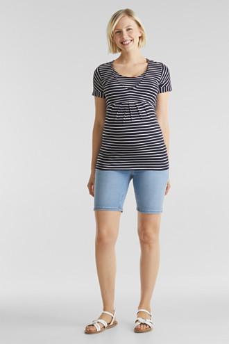 Denim shorts with an under-bump waistband