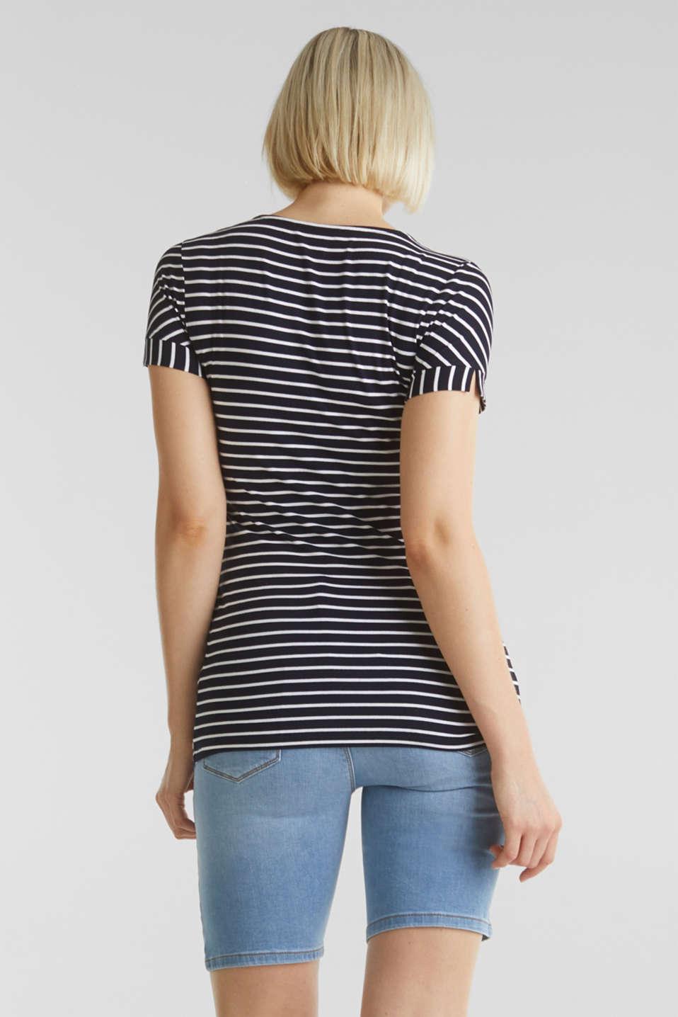 Denim shorts with an under-bump waistband, LCLIGHTWASH, detail image number 3