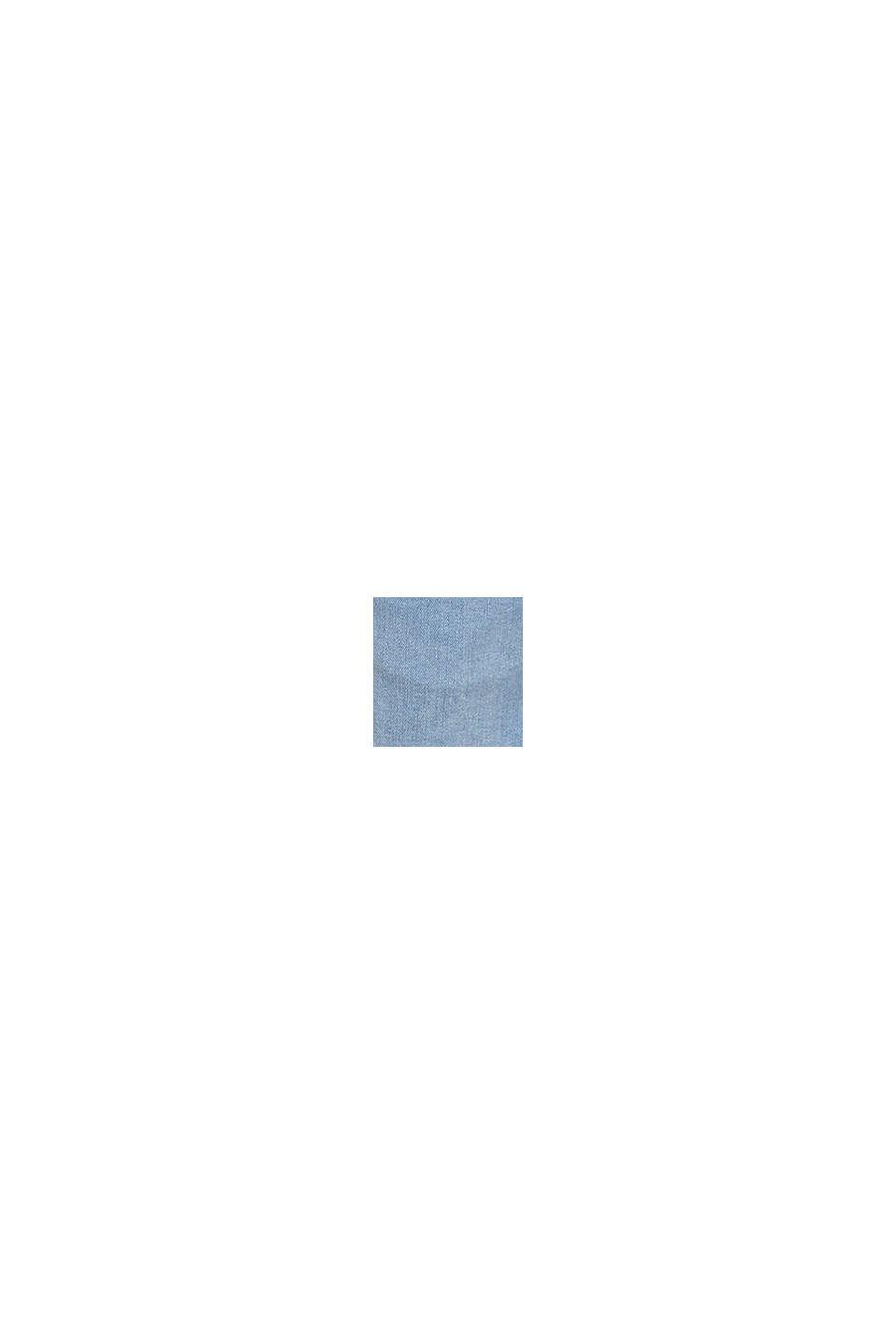 Denimowe szorty z panelem, LIGHT WASHED BLUE, swatch