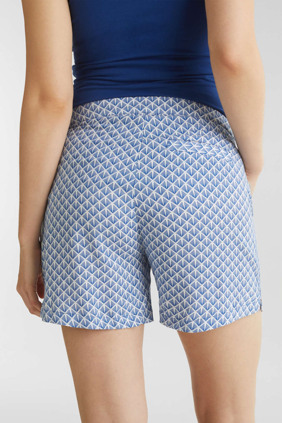 Woven shorts with an under-bump waistband, LCGREY BLUE, detail image number 5