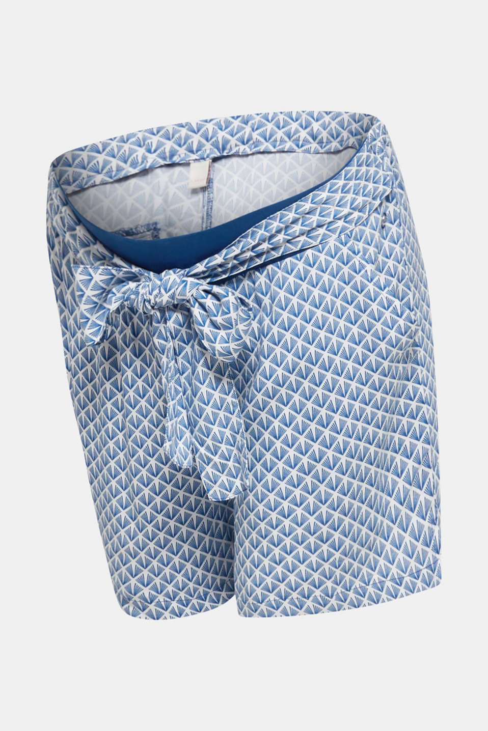 Woven shorts with an under-bump waistband, LCGREY BLUE, detail image number 7