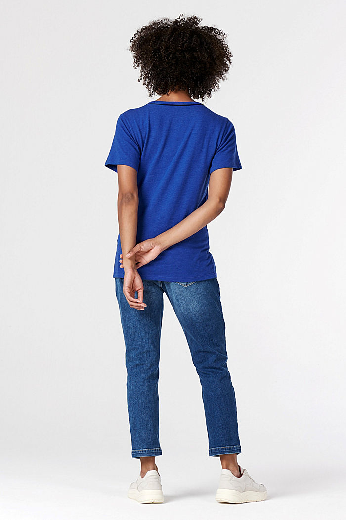 Bequemes T-Shirt mit Stretch, ELECTRIC BLUE, detail image number 2