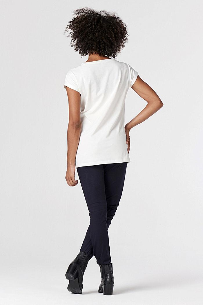 T-shirt made of 100% organic cotton, VANILLA WHITE, detail image number 2