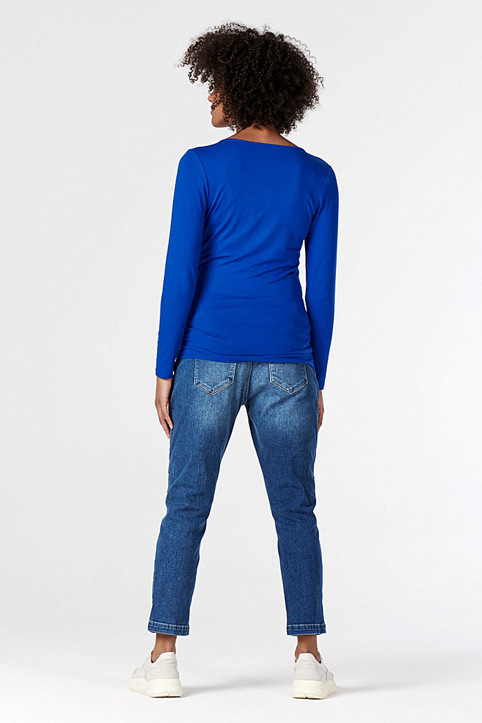 Long sleeve nursing top, LENZING™ ECOVERO™, ELECTRIC BLUE, detail image number 3