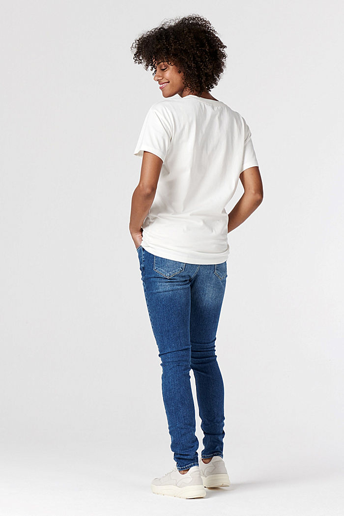 T-Shirt aus 100% Bio-Baumwolle, VANILLA WHITE, detail image number 1