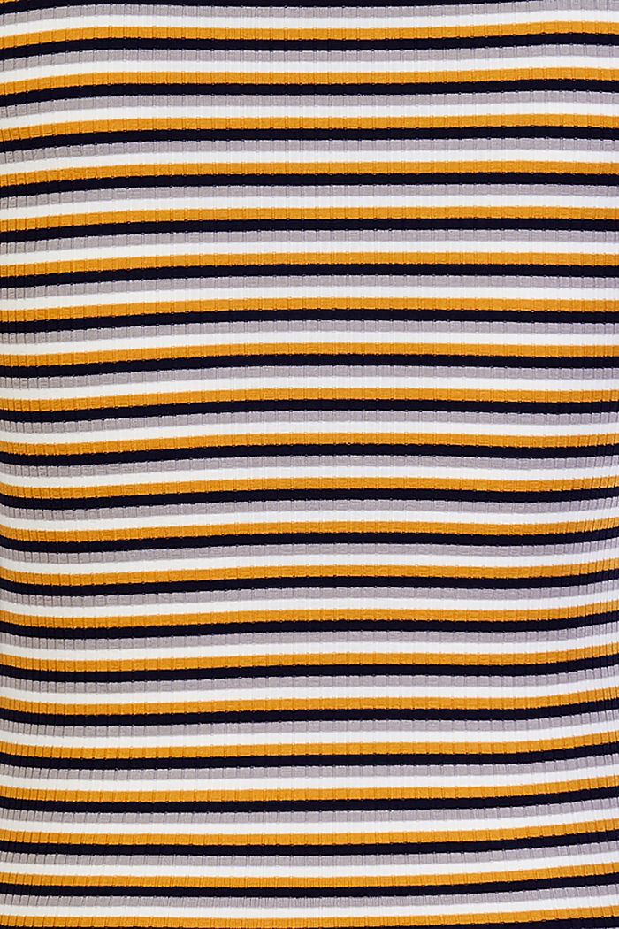 T-Shirt im Streifen-Look, CHINESE YELLOW, detail image number 3