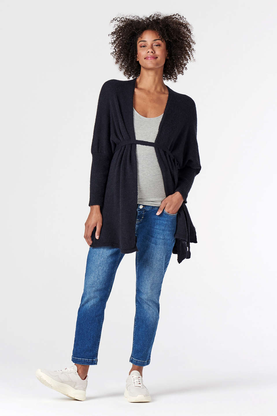 Esprit - Open-fronted cardigan with a belt