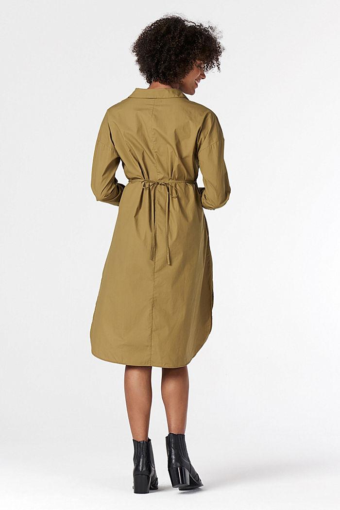 Shirt dress made of 100% cotton, KHAKI GREEN, detail image number 2