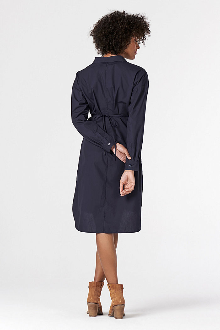 Shirt dress made of 100% cotton, NIGHT SKY BLUE, detail image number 2