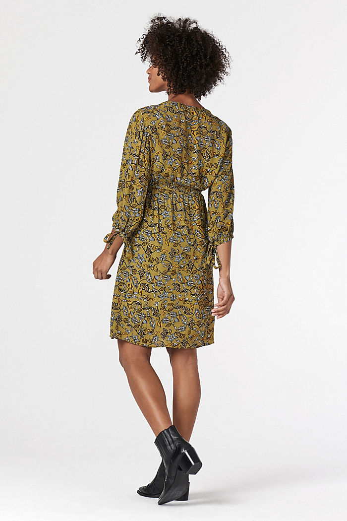 Print nursing dress, KHAKI GREEN, detail image number 1