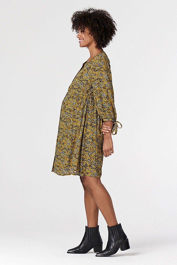 Print nursing dress, KHAKI GREEN, detail image number 3