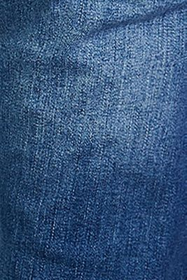 Ankle-length jeans with an over-bump waistband, MEDIUM WASH, detail