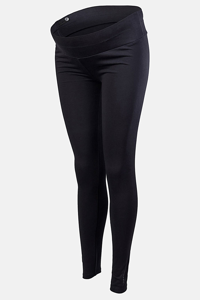 Leggings with an under-bump waistband, GUNMETAL, detail image number 1