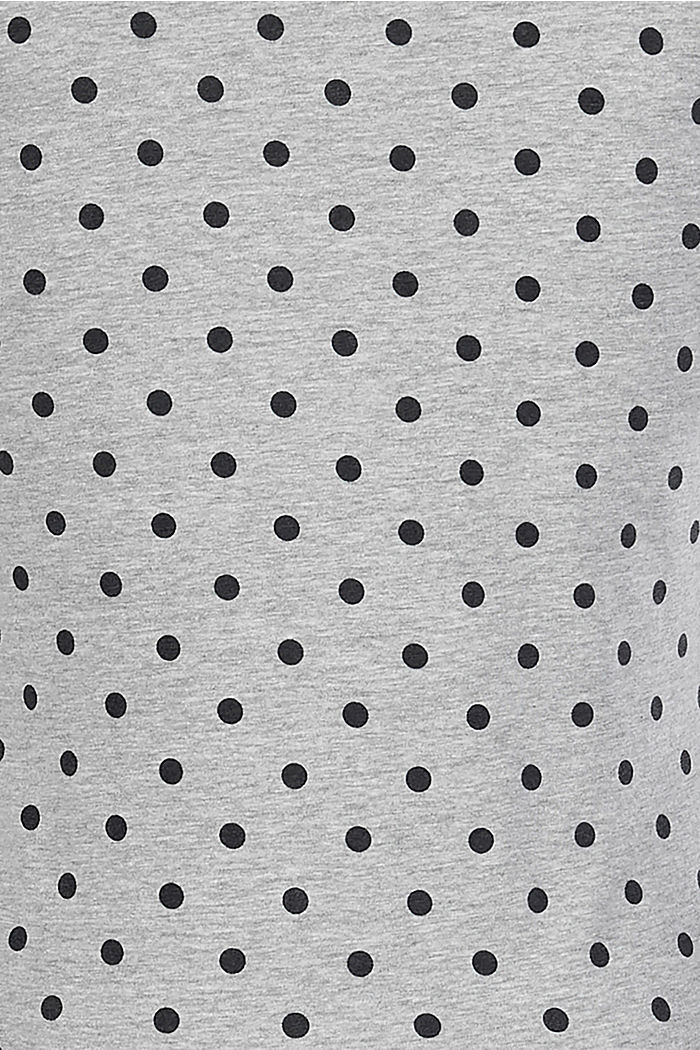 Still-Shirt mit Print, Stretch und Spitze, LIGHT GREY MELANGE, detail image number 4