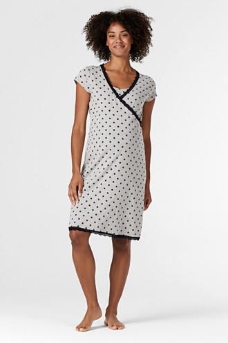 Nursing nightshirt with organic cotton