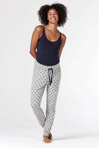 Pyjama trousers with an under-bump waistband